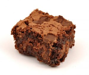 Trozo de Brownie de chocolate
