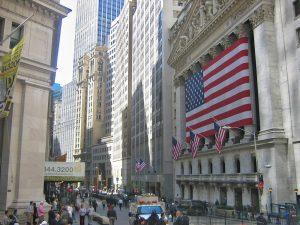 Distrito financiero en Nueva York.