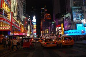Nueva York de noche.