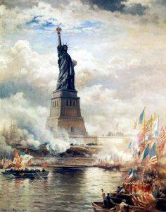 Óleo sobre lienzo de la Estatua de la Libertad