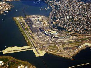 Vista superior hacia el Aeropuerto Laguardia