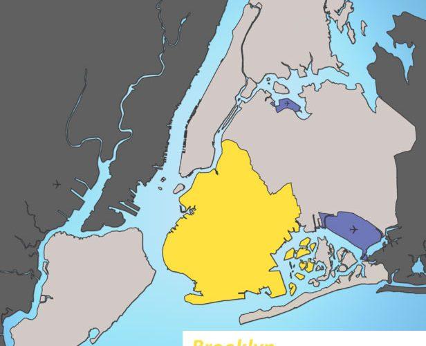Mapa de Brooklyn
