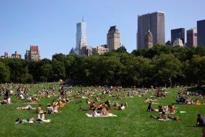 Clima caluroso de julio en Nueva York.