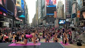 Actividades en las calles de Nueva York.