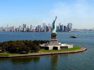 Vista panorámica de la Estatua de la Libertad