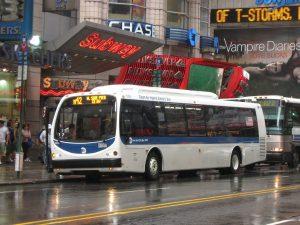 Autobuses en la ciudad de Nueva York