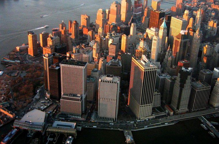 Vista aérea de la ciudad de Manhattan