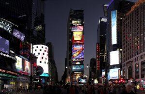 Foto panorámica de Times Square