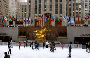 Pista de patinaje sobre hielo en Rockefeller Center