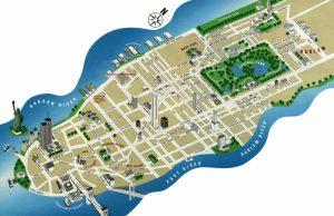 Mapa de los atractivos turísticos de Nueva York