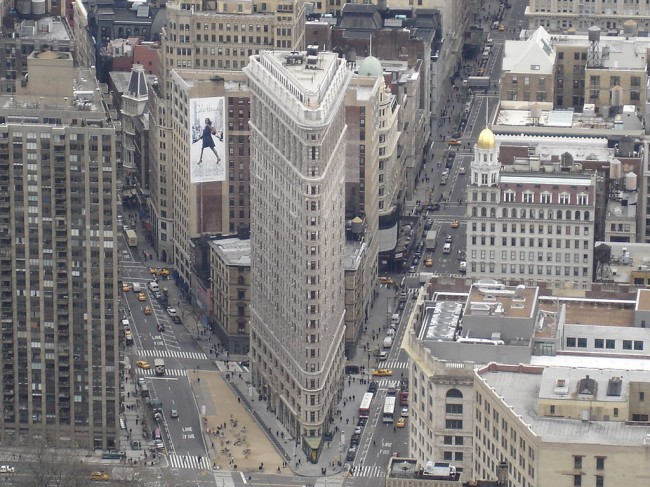 Vista aérea del Edificio Flatiron