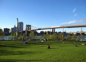 Vista del Puente de Brooklyn desde Brooklyn Bridge Park