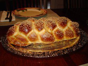 Challah Bread Six Braid