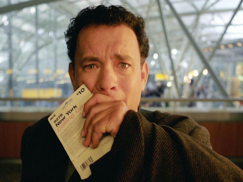 Tom Hanks en La Terminal.