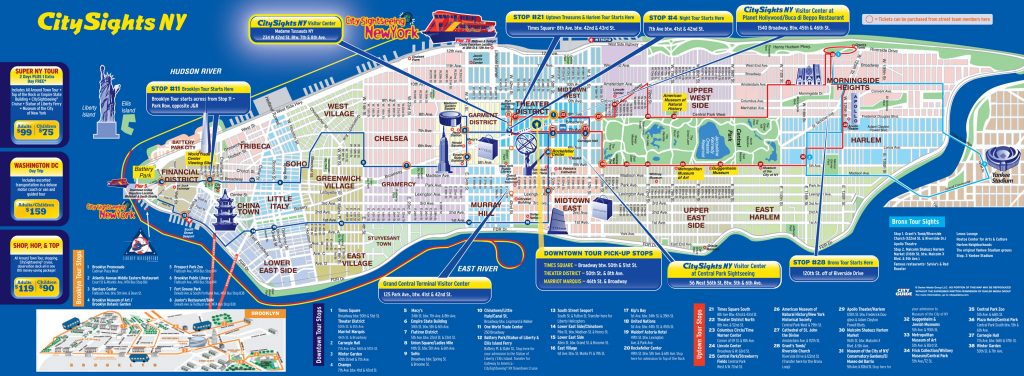 New York Mapa Turistico.Mapa De Nueva York Turismo Nueva York Mapa Turistico Distritos