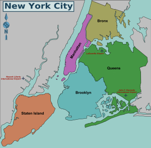 NYC Borough Map