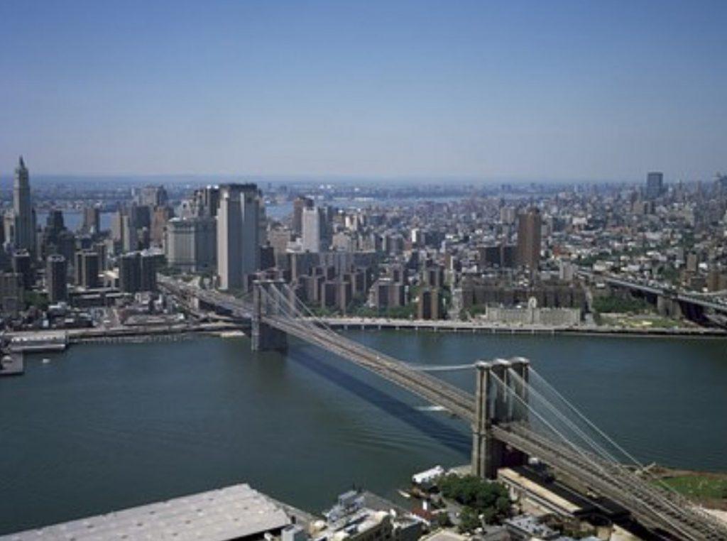 La vista desde el Puente de Brooklyn