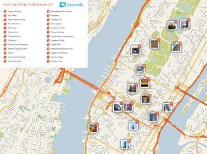 mapa de manhattan para turistas