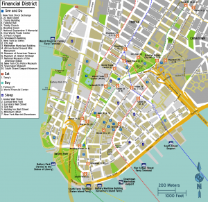 mapa de manhattan barrios