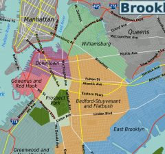 mapa de brooklyn bridge
