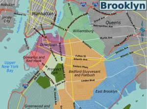 mapa de brooklyn bridge