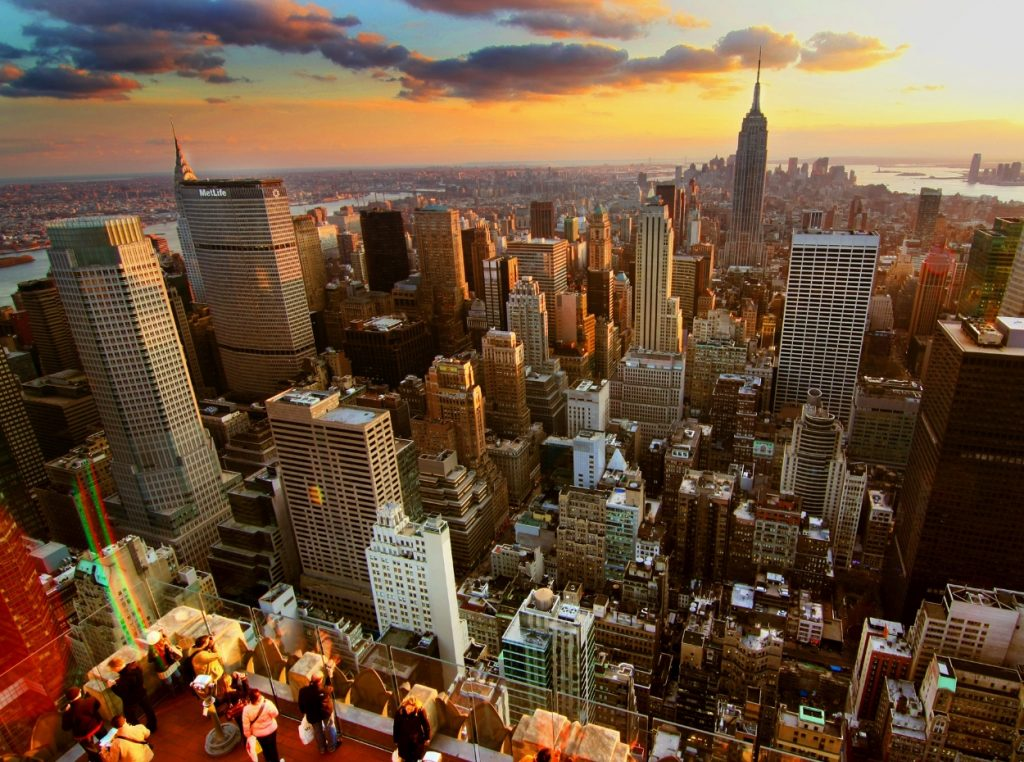 Top of the rock al atardecer